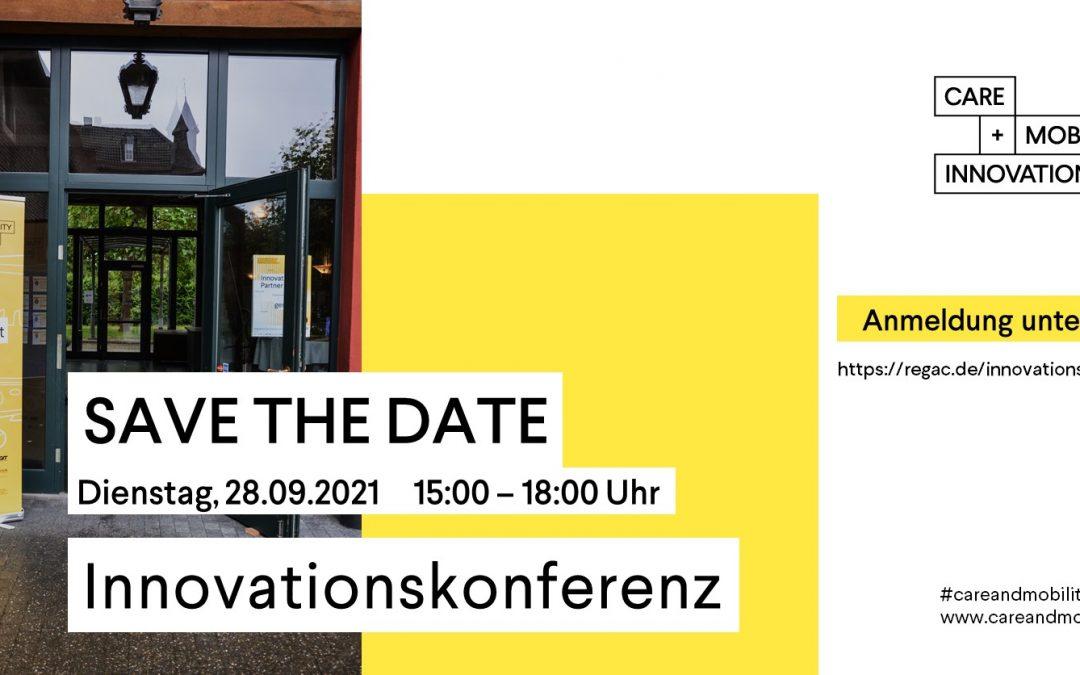 "Save the Date: Innovationskonferenz zu EFRE-Projekt ""Care and Mobility Innovation"""